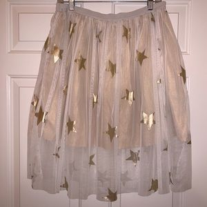 Other - NWT white mesh tu tu with golden stars